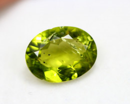 3.80ct Green Peridot Oval Cut Lot V4893
