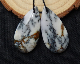 Sale Natural Dendritic Opal Earring Pairs ,Wholesale Earrings C883