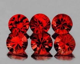 5.00 mm Round Diamond Cut 6 pcs 3.08cts Red Garnet [VVS]