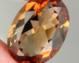 8.70ct Orange Bronze Topaz VVS  No reserve ~