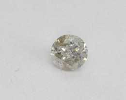 0.71ct  K-I2 Diamond , 100% Natural Untreated