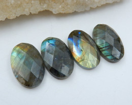 Wholesale Natural Flashy Labradorite Faceted Cabochons C898
