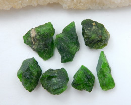 93.5cts Handmade Green Gemstone ,Dioptase Cabochons ,Lucky Stone C899