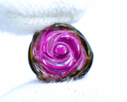 NR 8 cts Carved Tourmaline Slice
