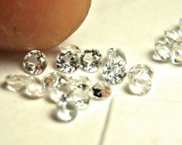 1.52 Tcw. White Zircon Accents - VS - 20pcs. - 2.5mm