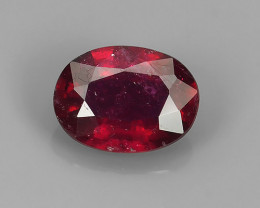 ~Gorgeous!Jumbo!Oval Facet Top Blood Red Natural Ruby Madagascar!