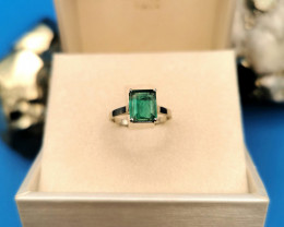 2,00ct Colombian Emerald 18k Solid Gold Ring Colombian Emerald Colombian Em