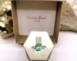 1,94ct Colombian Emerald 18k Solid Gold Ring Colombian Emerald Colombian Em