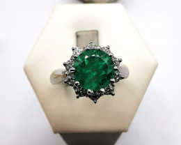 1,70ct Colombian Emerald 18k Solid Gold Ring Colombian Emerald Colombian Em