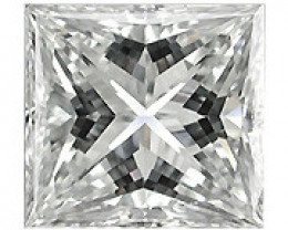 0.12 ct Princess Cut Diamond  (E / VS1)