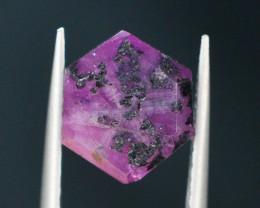 Rarest 3.05 ct Trapiche Pink Kashmir Sapphire