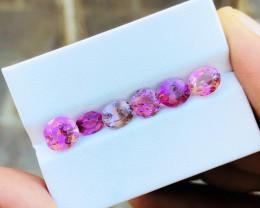 5 Ct Natural Pinkish Transparent Tourmaline Gemstones Parcel