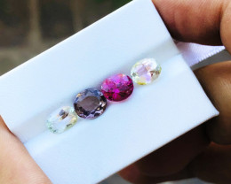 5.05 Ct Natural Bi Color & Pink Transparent Tourmaline Gems Parcel