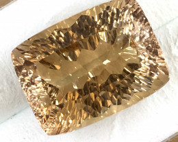 GIA Certified 13.61 ct Cushion Orangy Brown Topaz JC