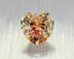 Natural Padparadscha UNHEATED , well-cut heart 0.41ct (01543)