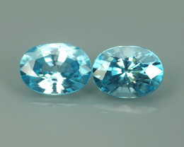 2.70 CTS FABULOUSLY NATURAL BLUE ZIRCON OVAL TOP QUALITY!!