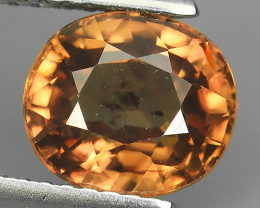 3.05 CTS DAZZLING NATURAL RARE TOP LUSTER INTENSE RARE BROWN ZIRCON $199.00