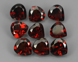 8.15 CTS~EXQUISITE NATURAL UNHEATED HEART PEAR RED RHODOLITE GARNET!!