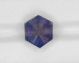 Trapiche Sapphire, 7.69ct - Mined in Afghanistan | Certified by GRS