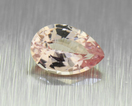 Unheated Padparadscha Sapphire 0.48ct  Pear well-cut, good brilliance (0153