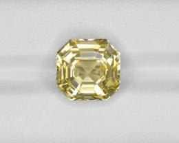 Yellow Sapphire, 9.27ct - Mined in Sri Lanka | Certified by GRS