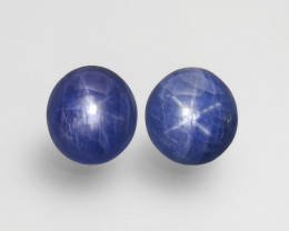 Pair of Blue Star Sapphires, 127.72ct - Mined in Burma | Certified by GRS