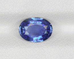 Blue Sapphire, 0.96ct - Mined in Burma | Certified by IGI