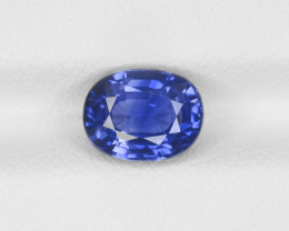 Blue Sapphire, 2.22ct - Mined in Kashmir | Certified by IGI