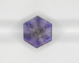 Trapiche Sapphire, 3.18ct - Mined in Afghanistan   Certified by IGI