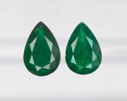 Pair of Emeralds, 5.15ct - Mined in Brazil