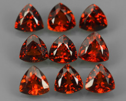 3.25 Cts_trillon Cut_Marvelous_Electric Red_Africa_Sizzling_Rhodolite_~
