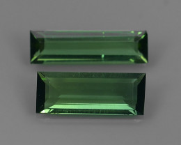1.70 cts Natural green Mozambique Tourmaline 2 pcs