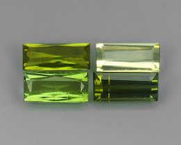 3.20 cts Natural green Mozambique Tourmaline 4 pcs