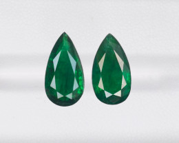 Pair of Emeralds, 3.01ct - Mined in Brazil