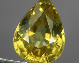 2.05 Cts Wonderful~Transparent Natural pear shape Fancy Rare Zircon!!