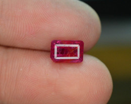 AGL ~ Certified 1.55 cts Natural Red Color Ruby - Untreated/Unheated~Burma