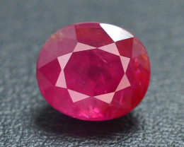 AGL ~ Certified 2.04 cts Natural Red Color Ruby - Untreated/Unheated~Burma