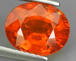 3.65 CTS EXQUISITE NATURAL UNHEATED FANTA COLOR OVAL SPESSARTITE