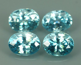 4.60 CTS WONDERFULL OVAL CUT BLUE ZIRCON PARCEL