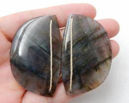 Natural Labradorite Drilled Earrings Bead, stone for earrings making C917