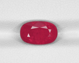 Ruby, 3.18ct - Mined in Tanzania | Certified by IGI