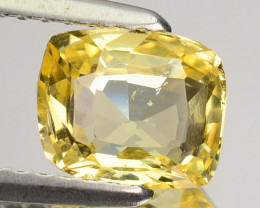 ~UNHEATED~ 1.46 Cts Natural Yellow Sapphire Cushion Cut Sri Lanka