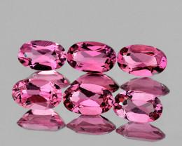 5x3 mm Oval 6 pcs 1.36cts Pink Tourmaline [VVS]