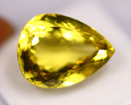21.39ct Natural Lemon Quartz Pear Cut Lot P236