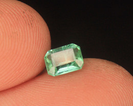 Afghani Emerald Gemstone in Emerald Cut From Afghanistan