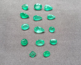 Parcel of 29,15ct Colombian Emeralds Ref 76/76 (14 pieces)