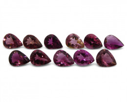 10.8 ct Pink Tourmaline Pear Wholesale Lot