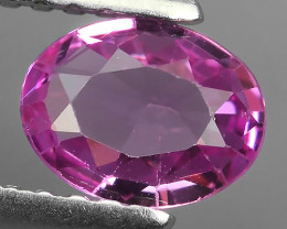0.62 CTS AWESOME CEYLON PINK SAPPHIRE FACETED GENUINE OVAL GEM!!