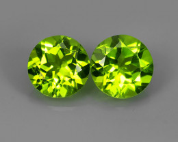 3.90 Cts.Magnificient Top Sparkling Intense Green Peridot Round Gem!