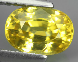 1.90 CTS DAZZLING NATURAL RARE TOP LUSTER INTENSE RARE~YELLOW ZIRCON